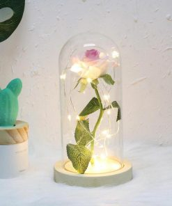 rose eternelle sous verre