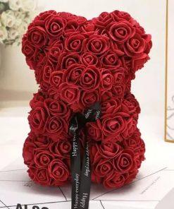 ours en rose rouge