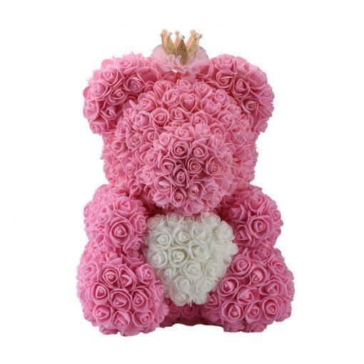 Acheter ourson en rose artificielle